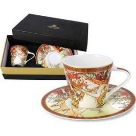Чашка с блюдцем Carmani Весна А. Муха (CAR2-539-5001)