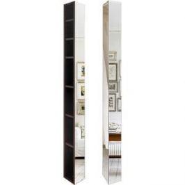 Поворотный зеркальный шкаф Shelf.On Иглу Шелф венге