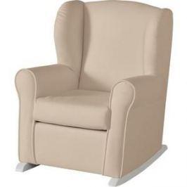 Кресло-качалка Micuna мини Wing/Nanny white/beige искусственная кожа
