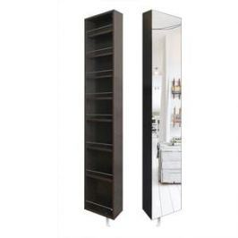 Поворотный зеркальный шкаф Shelf.On Лупо Шелф венге лево