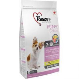 Сухой корм 1-ST CHOICE Puppy Toy & Small Healthy Skin & Coat Lamb&Fish с ягненком и рыбой для кожи и шерсти для щенков мелких пород 2,72кг (102.3071)