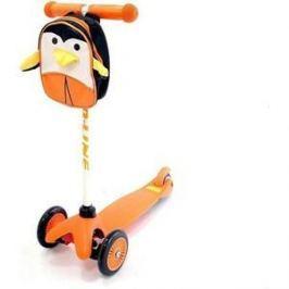 Самокат 3-х колесный Amigo Bliss с рюкзаком оранжевый