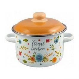 Кастрюля эмалированная 4.0 л Appetite Floral kitchen (6RD201M)
