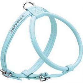 Шлейка Hunter Smart Harness Modern Art R & S Petit Luxus size 50/11 (33/42-48 см) кожзам синяя для собак