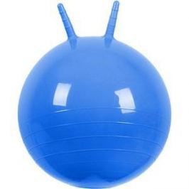 Мяч прыгун МалышОК , диаметр 500мм с рожками голубой в подарочной упаковке