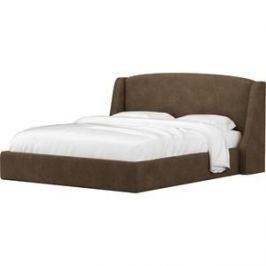 Кровать АртМебель Лотос микровельвет коричневый.