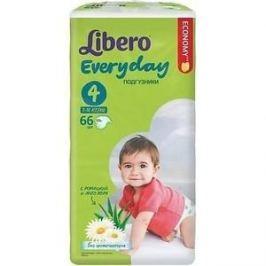 Libero Подгузники детские Every Day макси 7-18кг 66шт упаковка мега