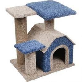 Когтеточка PerseiLine Комплекс КАМЕЯ-3 изба + 2 площадки 50*40*50см цвета в ассортименте для кошек (КК-3)