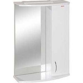 Зеркальный шкаф Меркана квадро 8 55 см шкаф справа свет белое (7332)
