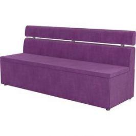 Кухонный диван АртМебель Классик микровельвет фиолетовый