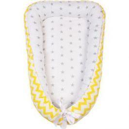 Позиционер для сна AmaroBaby кокон-гнездышко, SWEET BABY желтый/серый