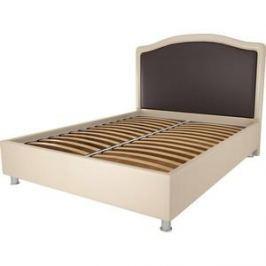 Кровать OrthoSleep Калифорния бисквит-шоколад ортопед.основание 200х200