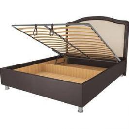 Кровать OrthoSleep Калифорния шоколад-бисквит механизм и ящик 200х200