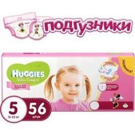 Huggies Подгузники Ultra Comfort Размер 5 12-22кг 56шт для девочек
