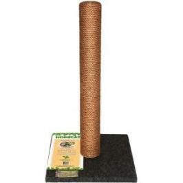 Когтеточка HomeCat столбик ковролин джут серая для кошек (410х410х630)