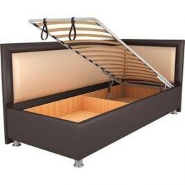 Кровать OrthoSleep Барби шоколад-бисквит механизм и ящик 90х200 правый угол