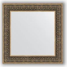 Зеркало в багетной раме Evoform Definite 73x73 см, вензель серебряный 101 мм (BY 3160)