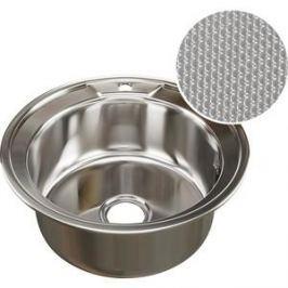 Кухонная мойка Mixline D 49 0,8 выпуск 3 1/2 глуб чаши ДЕКОР (4620031442394)