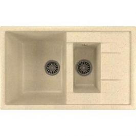 Кухонная мойка Mixline ML-GM22 49,5х77 бежевый 328 (4630030635598)