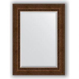 Зеркало с фацетом в багетной раме поворотное Evoform Exclusive 82x112 см, состаренная бронза с орнаментом 120 мм (BY 3481)