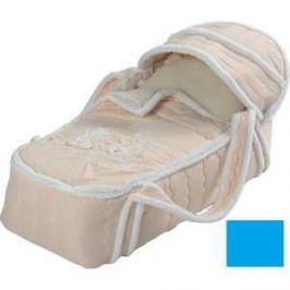 Сдобина Меховая сумка переноска для новорожденного голубой 79
