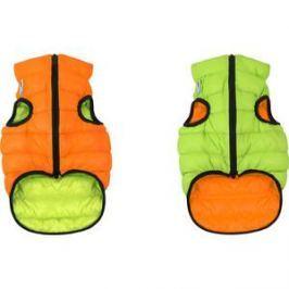 Курточка CoLLaR AiryVest двухсторонняя оранжево-салатовая размер S 35 для собак (1602)