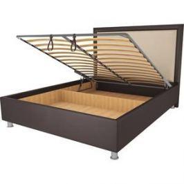 Кровать OrthoSleep Нью-Йорк шоколад-бисквит механизм и ящик 90х200