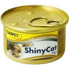 Консервы Gimborn Gimpet ShineCat тунец с креветками и солодом для кошек 70г (413372)