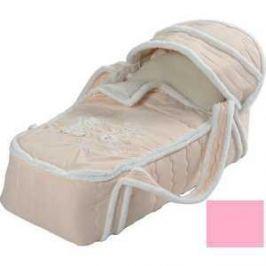 Сдобина Меховая сумка переноска для новорожденного розовый 79