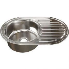 Кухонная мойка Mixline 50х77 0,8 левая, выпуск 3 1/2 (4620031447207)
