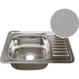Кухонная мойка Mixline 50х65 врез 0,8 левая, выпуск 3 1/2 ДЕКОР (4620031442431)