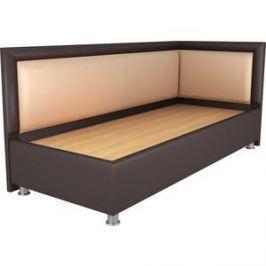 Кровать OrthoSleep Барби шоколад-бисквит жесткое основание 120х200 правый угол