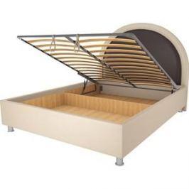 Кровать OrthoSleep Аляска бисквит-шоколад механизм и ящик 200х200