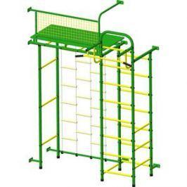 Детский спортивный комплекс Пионер 10ЛМ зелёно- жёлтый