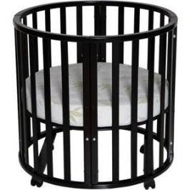 Кровать детская Антел Северянка (3.1) 6 в 1 колесо, круглая 75*75, овал 125*75 шоколад