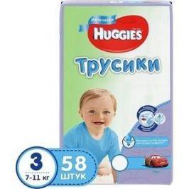 Huggies Подгузники-трусики PANTS Annapurna Размер 3 7-11кг 58 шт для мальчиков