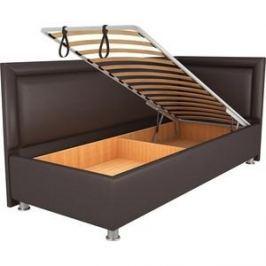 Кровать OrthoSleep Барби шоколад механизм и ящик 80х200 правый угол