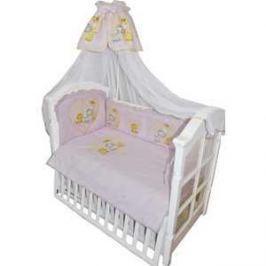 Комплект в кровать Золотой гусь 7 предметов Сафари Розовый 1216