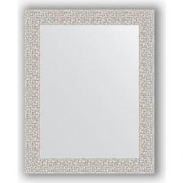 Зеркало в багетной раме Evoform Definite 38x48 см, мозаика хром 46 мм (BY 3004)