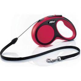 Рулетка Flexi New Comfort S трос 5м черная/красная для собак до 12кг
