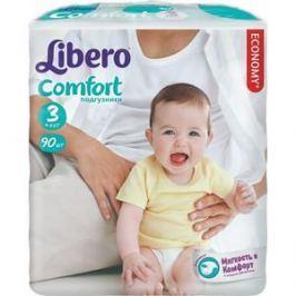 Libero Подгузники детские Комфорт миди 4-9кг 90шт упаковка мега плюс