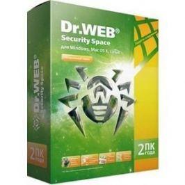Программный продукт Dr.Web Security Space ПК BHW-B-24M-2-A3 Регистрационный ключ 2 на 2 года