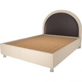 Кровать OrthoSleep Аляска бисквит-шоколад жесткое основание 140х200