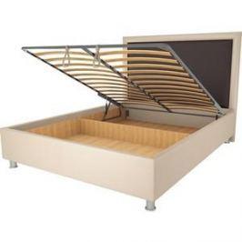 Кровать OrthoSleep Нью-Йорк бисквит-шоколад механизм и ящик 120х200