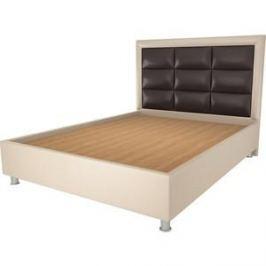 Кровать OrthoSleep Виктория бисквит-шоколад жесткое основание 140х200