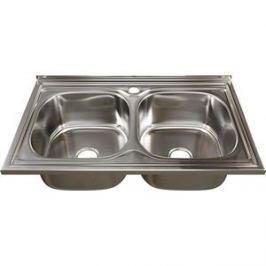 Кухонная мойка Mixline 50х80 0,6 2-х чаш выпуск 3 1/2 (4630030632351)