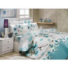 Комплект постельного белья Hobby home collection 2-х сп, ранфорс, Rosalinda, зеленый (1501000915)