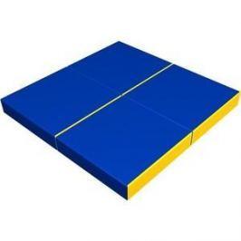 Мат КМС № 11 (100 х 100 х 10) складной (4 сложения) сине- жёлтый 2635