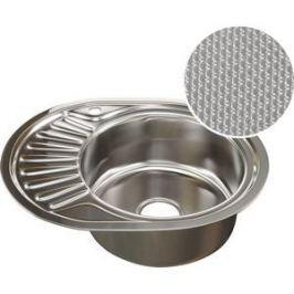 Кухонная мойка Mixline 45х57 0,8 правая, выпуск 3 1/2 ДЕКОР (4620031442370)