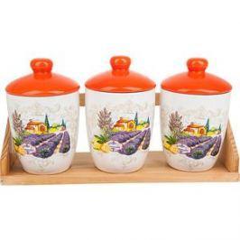 Набор банок для сыпучих продуктов 3 штуки Polystar Collection Прованс (L2430725)